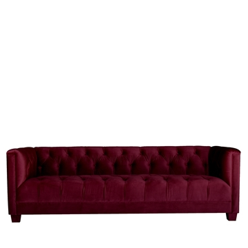 Luxe 3 Seater Maroon